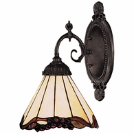071-TB-03 ELK Lighting Mix-N-Match 1-Light Wall Lamp in Tiffany Bronze with Tiffany Style Glass