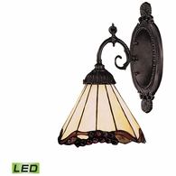 071-TB-03-LED ELK Lighting Mix-N-Match 1-Light Wall Lamp in Tiffany Bronze with Tiffany Style Glass - Includes LED Bulb