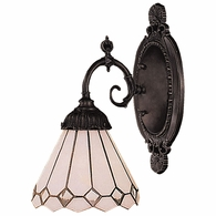071-TB-04 ELK Lighting Mix-N-Match 1-Light Wall Lamp in Tiffany Bronze with Tiffany Style Glass