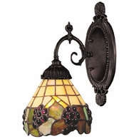 071-TB-07 ELK Lighting Mix-N-Match 1-Light Wall Lamp in Tiffany Bronze with Tiffany Style Glass