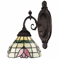 071-TB-09 ELK Lighting Mix-N-Match 1-Light Wall Lamp in Tiffany Bronze with Tiffany Style Glass