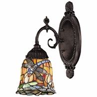 071-TB-12 ELK Lighting Mix-N-Match 1-Light Wall Lamp in Tiffany Bronze with Tiffany Style Glass