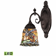 071-TB-12-LED ELK Lighting Mix-N-Match 1-Light Wall Lamp in Tiffany Bronze with Tiffany Style Glass - Includes LED Bulb