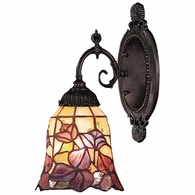 071-TB-17 ELK Lighting Mix-N-Match 1-Light Wall Lamp in Tiffany Bronze with Tiffany Style Glass