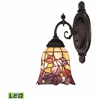 071-TB-17-LED ELK Lighting Mix-N-Match 1-Light Wall Lamp in Tiffany Bronze with Tiffany Style Glass - Includes LED Bulb