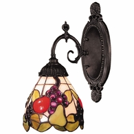 071-TB-19 ELK Lighting Mix-N-Match 1-Light Wall Lamp in Tiffany Bronze with Tiffany Style Glass