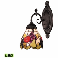 071-TB-19-LED ELK Lighting Mix-N-Match 1-Light Wall Lamp in Tiffany Bronze with Tiffany Style Glass - Includes LED Bulb