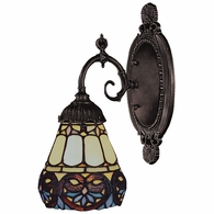 071-TB-21 ELK Lighting Mix-N-Match 1-Light Wall Lamp in Tiffany Bronze with Tiffany Style Glass