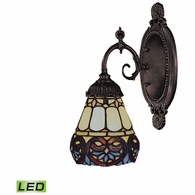 071-TB-21-LED ELK Lighting Mix-N-Match 1-Light Wall Lamp in Tiffany Bronze with Tiffany Style Glass - Includes LED Bulb