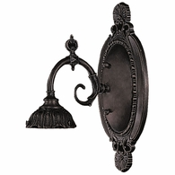 071-TB-LG ELK Lighting Mix-N-Match 1-Light Wall Lamp in Tiffany Bronze with Tiffany Style Glass