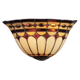 08032-BC ELK Lighting Diamond Ring 2-Light Sconce in Copper with Tiffany Style Glass