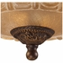 08101-AGB ELK Lighting Restoration 3-Light Semi Flush in Golden Bronze with Amber Glass