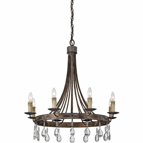 1-201-8-15 Savoy House Transitional Carlisle 8 Light Chandelier with Bronze Patina Finish