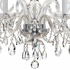 1005-CH-CL-MWP Crystorama Traditional Crystal 5 Light Crystal Chrome Chandelier