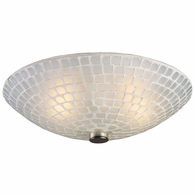10139/2WHT ELK Lighting Fusion 2-Light Semi Flush in Satin Nickel with White Mosaic Glass