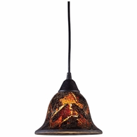 10144/1FS ELK Lighting Firestorm 1-Light Mini Pendant in Dark Rust with Firestorm Glass
