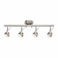 10326NI Kichler Fixtures Contemporary Brushed Nickel Rail Light 4Lt LED