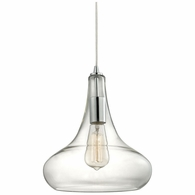 10422/1 ELK Lighting Orbital 1-Light Mini Pendant in Polished Chrome with Clear Glass