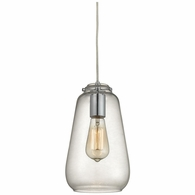 10423/1 ELK Lighting Orbital 1-Light Mini Pendant in Polished Chrome with Clear Glass
