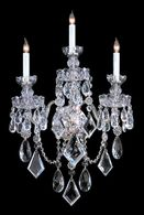 1043-CH-CL-MWP Crystorama Traditional Crystal 3 Light Polished Chrome Hand Cut Crystal Sconce
