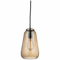10433/1 ELK Lighting Orbital 1-Light Mini Pendant in Oil Rubbed Bronze with Light Amber Glass