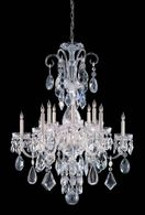 1045-CH-CL-MWP Crystorama Traditional Crystal 12 Light Polished Chrome Hand Cut Crystal Chandelier