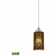10505/1-LED ELK Lighting Illusions 1-Light Mini Pendant in Chrome with Sage Mercury Mirror Glass - Includes LED Bulb