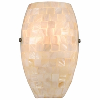 10540/1 ELK Lighting Capri 1-Light Sconce in Satin Nickel with Glass/Capiz Shells