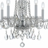 1061-CH-CL-SAQ Crystorama Traditional Crystal 5 Light Spectra Crystal Chrome Mini Chandelier