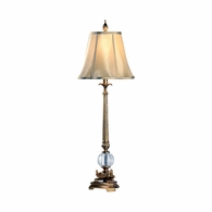 1063 Wildwood Composite Antique Gold Patina Floating Ball Lamp