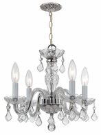 1064-CH-CL-I Crystorama Crystorama 4 Light Clear Italian Crystal Chrome Mini Chandelier I