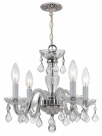 1064-CH-CL-SAQ Crystorama Traditional Crystal 4 Light Clear Spectra Crystal Chrome Mini Chandelier
