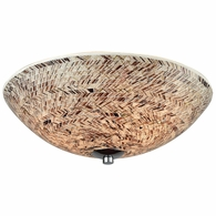 10730/3 ELK Lighting Crosshatch 3-Light Flush Mount in Polished Chrome with Painted Mosaic Glass