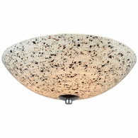 10740/3 ELK Lighting Spatter 3-Light Flush Mount in Polished Chrome with Spatter Mosaic Glass