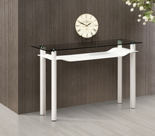 107710 Zuo Modern Tier Console Table in Black Finish