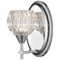 10820/1 ELK Lighting Kersey 1-Light Vanity Light in Polished Chrome with Clear Crystal