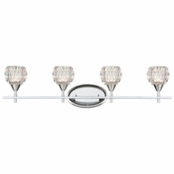 10822/4 ELK Lighting Kersey 4-Light Vanity Light in Polished Chrome with Clear Crystal