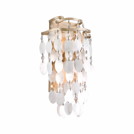 109-11 Corbett Dolce 2Lt Wall Sconce with Champagne Leaf Finish