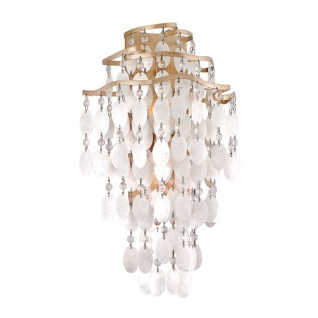 109-12 Corbett Dolce 2Lt Wall Sconce with Champagne Leaf Finish