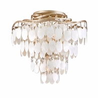 109-34 Corbett Dolce 4Lt Semi Flush with Champagne Leaf Finish