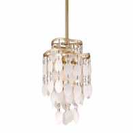 109-41 Corbett Dolce 1Lt Mini Pendant with Champagne Leaf Finish