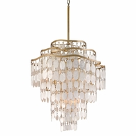 109-412 Corbett Dolce 12Lt Pendant with Champagne Leaf Finish