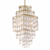 109-47 Corbett Dolce 7Lt Pendant with Champagne Leaf Finish