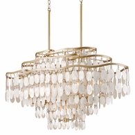 109-512 Corbett Dolce 12Lt Linear with Champagne Leaf Finish