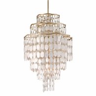 109-712 Corbett Dolce 12Lt Pendant with Champagne Leaf Finish