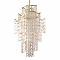 109-719 Corbett Dolce 19Lt Pendant with Champagne Leaf Finish