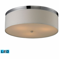11445/3-LED ELK Lighting Flushmounts 3-Light Flush Mount in Polished Chrome with Diffuser - Includes LED Bulbs