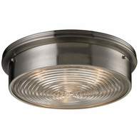 11463/3 ELK Lighting Chadwick 3-Light Flush Mount in Brushed Nickel with Diffuser