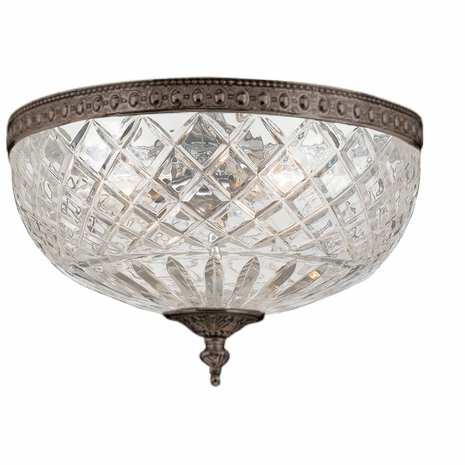 117-12-EB Crystorama Crystorama 3 Light Bronze Crystal Ceiling Mount