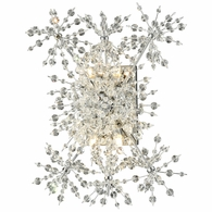 11890/4 ELK Lighting Snowburst 4-Light Wall Lamp in Polished Chrome with Crystal